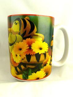 Rare Disney Winnie the Pooh Tigger Loving daisy Coffee Mug Cup New never used | eBay