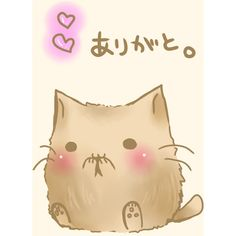 :3 blush cat heart no humans semiame translated ❤ liked on Polyvore