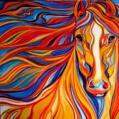What a proud dreamhorse...Can you tell what I'm thinking about painting next #Color #Horse - Source: SumerTabletLeni
