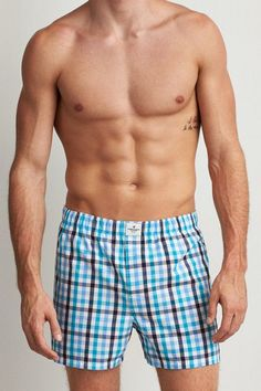 American Eagle Outfitters AEO Plaid Boxer