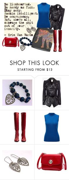 """Be Bold in Red, Black and Royal Blue"" by jroy1267 on Polyvore featuring Alexander McQueen and Joseph"