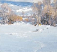 Skip Whitcomb, Winter Pasture, Oil