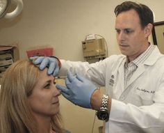 Dr. Challgren administers tiny Botox injections that will soften frown lines within several days, offering this patient a new, relaxed, more pleasant look. http://southernderm.com/supplements-to-protect-and-beautify-your-skin/