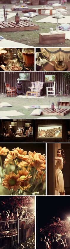 An Outdoor Cinema Party with Friends - The Collection Event Studio - The Collection - A Wine Country Wedding & Event Studio Showcasing a Curated Collection of Vendors & Venues