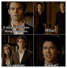 When I saw Damon's reaction to this while I was watching this episode, I laughed till I cried!