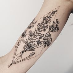 Flora of Alaska, and wishbone: fireweed, tundra rose, Queen Anne's lace, and love in a mist!  By Pony Reinhardt at Tenderfoot Studio in Portland, OR.  For more, follow on IG: freeorgy