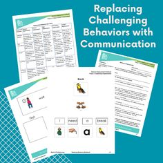 Are your kids or student exhibiting some challenging behaviors? Here's how you can replace those behaviors with communication skills with our no-prep activities and worksheets.