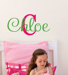 Childrens Wall Decals   Teen Name Decal  Girls by LucyLews on Etsy, $18.00