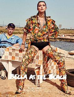 """""""Bella at the Beach"""" Vogue Japan November 2016"""