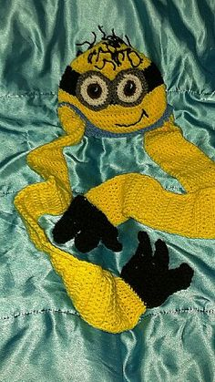 Crochet Minion hat inspired by Despicable Me