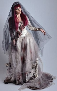 Zombie Bride, part of the Halloween collection for hire at The Costume Shop, Melbourne.
