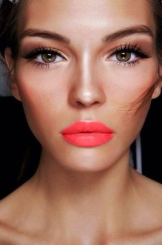 Coral summer #makeup