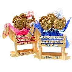 """""""New Baby"""" Rocking Horse Cookie Bouquet by Baby Gifts N Treasures.com"""
