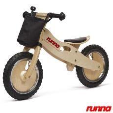 Bicicleta de Equilíbrio em Madeira Aro 12 Preta - Runna Bike