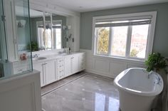 White and Grey Bathroom designed by Koffeetree Art & Design