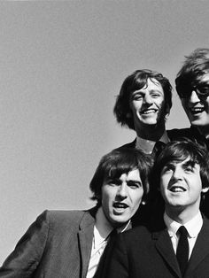 The Beatles | beatlemania | John Lennon | Paul McCartney | Ringo Star | black & white photography | vintage | great composition | music | suit and tie | good times | musicians | iconic