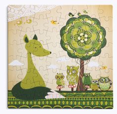 #coucou_marisha #puzzle_forever #puzzleforever Puzzles For Kids, Age 3, Enchanted, Little Ones, Fairy Tales, Whimsical, Dinosaur Stuffed Animal, Print Design, Recycling