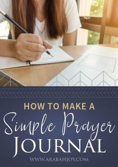 I began a simple prayer journal after reading this one verse! Click to learn how to make a simple prayer journal with these DIY prayer journal ideas. #prayer #prayerjournal #prayerjournalideas