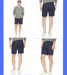 "Goodthreads Men's 7"" Inseam Flat-Front Stretch Chino Short 98% Cotton, 2% Spandex Imported Button closure Machine Wash Made with cotton stretch twill and a flat front, this essential chino short is ready to pair with all your wardrobe favorites Front slant pockets, button-through back pockets Zip fly with button closure #short #menfashion #fashion #men #trouser #pants #boxer #clothing"