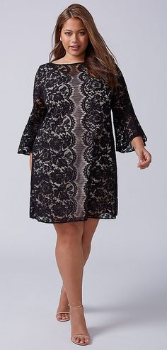 39 Plus Size Spring Wedding Guest Dresses {with Sleeves} - Plus Size Party Dress - alexawebb.com #alexawebb