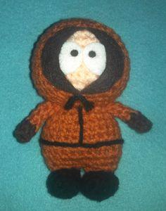 Adorable crochet Amigurumi South Park Kenny McCormick on Etsy, $22.00