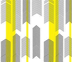 Chevron with Yellow Stripes