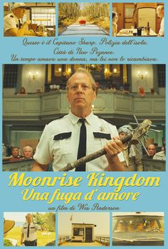 Il mitico Bruce Willis è il Capitano Sharp in Moonrise Kingdom!