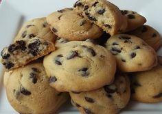 Csokis kekszek   TraRita receptje - Cookpad receptek Keto Chocolate Chip Cookie Recipe, Cookie Recipes, Nut Free, Grain Free, Low Carb Desserts, No Bake Cookies, Sweet Treats, Sugar Free, Food Ideas