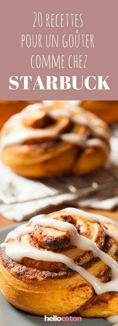 Cinnamon rolls, muffins... 20 recettes pour un goûter comme chez Starbuck ! Breakfast Casserole With Bread, Breakfast Bread Recipes, Brunch Recipes, Greek Yogurt Breakfast, Breakfast Dessert, Oatmeal With Almond Milk, Bread Maker Recipes, Pudding Desserts, Snacks