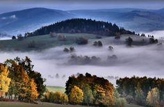 Jeseníky mountains in the autumn (North Moravia), Czechia
