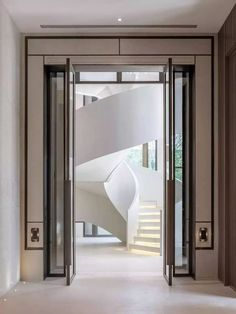 Hotel Doors Creating unique and exclusive design details for hotel doors. Find our world of hardware Arched Doors, Windows And Doors, Entrance Doors, Facade Design, Staircase Design, Staircase Ideas, Home Design, Interior Design, Feature Wall Design