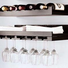 57 ideas wine storage diy small spaces glass holders for 2019 Wine Glass Shelf, Wine Rack Wall, Wine Glass Holder, Glass Shelves, Wine Racks, Bar Shelves, Wine Shelves, Wine Storage, Cheap Shelves
