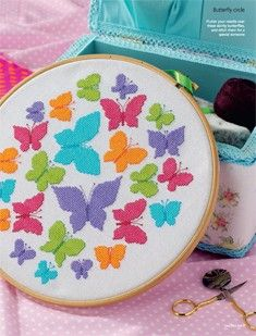 Butterfly Circle, designed by @Rhona Norrie, Cross Stitch Gold, December 2013, issue 107.