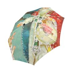 Saint Nicholas Vintage Christmas Low Poly Auto-Foldable Umbrella