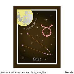 Zodiac, Cards, La Luna, Taurus, Astrology Signs, Postcards, Draw, Photo Illustration, Map
