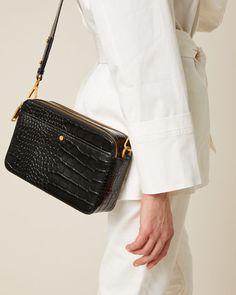Bennie Croc-Effect Leather Bag | Jigsaw