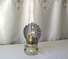 Vintage Oil Lamp S. Reich Co Czechoslovakia Primitive Decor Tin Reflector Wall Sconce Kerosene Lamp Vintage 1920s