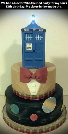 Doctor Who themed party… I know what I want for my next birthday cake