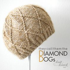 KNitting Pattern Name: Diamond Dogs Hat Pattern by: Amanda A. Davidson