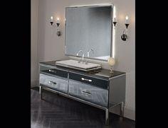 Milldue Hilton 20 Smoked Lacquered Glass Luxury Italian Bathroom Vanities
