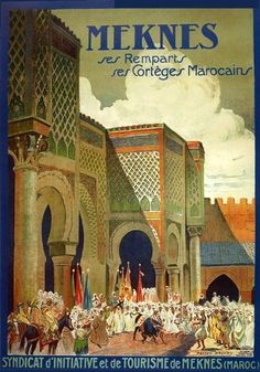 "Meknes city of Morocco kingdom in northwestern Africa Arab Arabic Travel Tourism 12"" X 16"" Image Size Vintage Poster Reproduction, We Have Other Sizes Available on Amazon by Heritage Posters, http://www.amazon.com/dp/B0086N9B9E/ref=cm_sw_r_pi_dp_Jw6-pb0YA8W63"