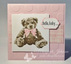 -Bear card - Baby Bear stamp set- Stampin' Up!