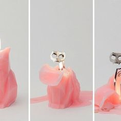 Skeleton Cat Candle