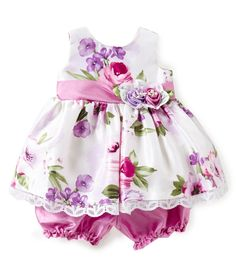 NWT Gymboree Fun Fancy Watercolor Flower Party Dress Baby Girl Outfit 12-18 M