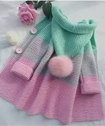Resultado de imagen para modelos de sacos tejidos a mano para niña