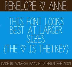 Penelope Anne Font | dafont.com