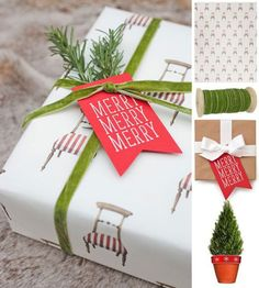 Gift wrap ideas via Waiting on Martha  #currentlycoveting #holidays2015 #holidaze #holidaystyle