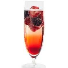 No more run-of-the-mill mimosas. Market-fresh berries and a dramatic splash of fruit syrup make this fizzy champagne cocktail the new breakfast fave. Who knew a sophisticated drink could be so simple?