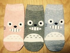 KIDS Age 5-7 Unisex My Neighbor TOTORO Cute Character Cotton Kids Socks_3 Colors #MIRINE #Casual