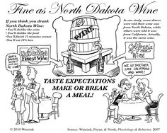 North Dakota isn't so well known for its wine. Mindless Eating, How To Eat Less, North Dakota, Funny Cartoons, Weight Management, Wine, Memes, Infographics, Drinking